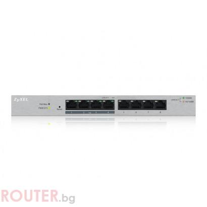 Мрежов суич ZyXEL GS1200-8HP, 8-port Desktop Gigabit Web Smart