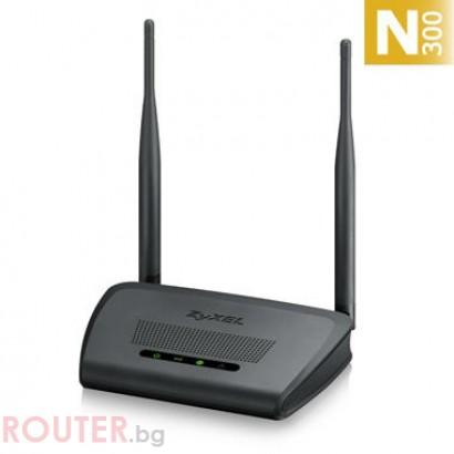 Рутер ZYXEL NBG 418NV2 безжичен рутер 300 Mbit 2x5 dBi антени