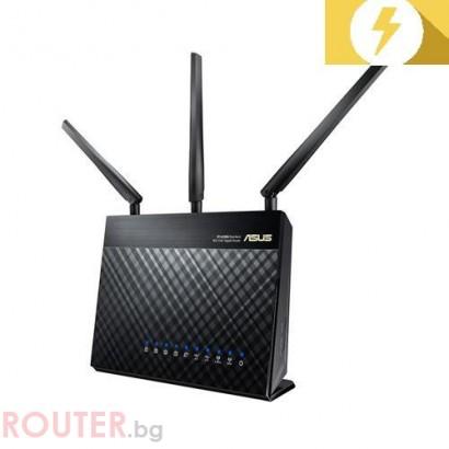 Безжичен рутер ASUS RT-AC68U Двубандов Gigabit