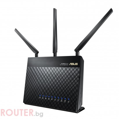 Безжичен рутер ASUS RT-AC68U V3, Двубандов AC1900, 600+1300 Mbps, 1 x USB 3.0, 1 x USB 2.0, AiMesh