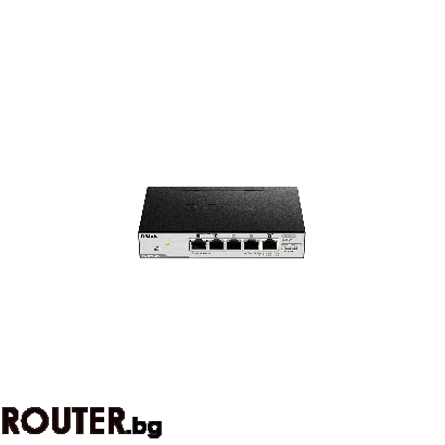 Мрежов суич D-LINK 5-Port Gigabit PoE Smart Switch 1 PD port