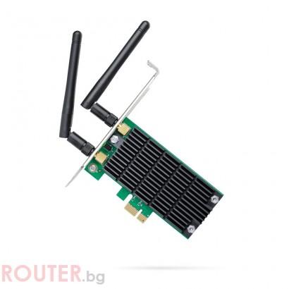 Безжичен адаптер TP-LINK Archer T4E, AC1200 dual band, PCI-EX, две външни антени