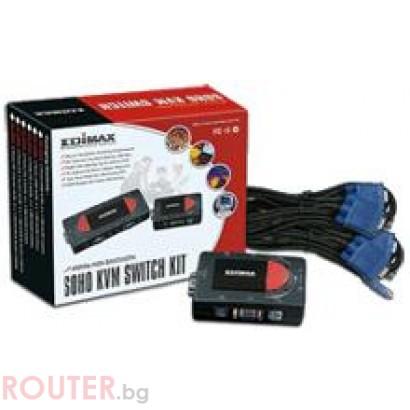 KVM Суич EDIMAX 4 port PS2