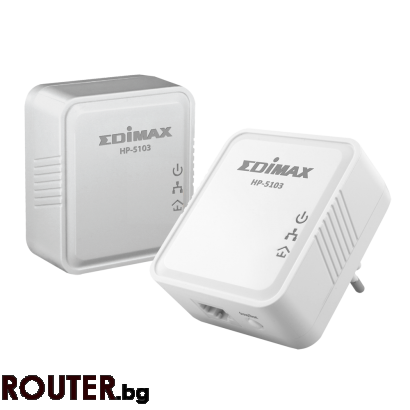 Мрежово устройство EDIMAX HP-5103K AV500 Nano Fast Ethernet powrline adapter kit