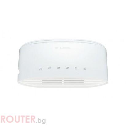 Суич D-Link DGS-1005D/E, 5 портов, 10/100/1000, Gigabit, DGS-1005D/E, Desktop