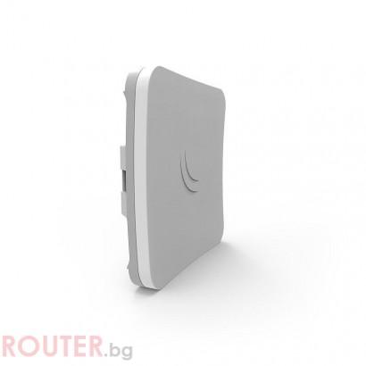 Рутер MikroTik RBSXTsq5HPnD, 2.4/5GHz AP, 10/100, POE, WiFi, Бял