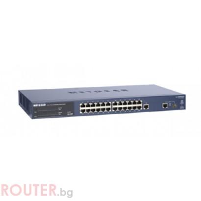 Мрежов суич NETGEAR FS726T-100EUS 24 port