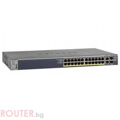 Мрежов суич NETGEAR M4100-26-POE 24-Port