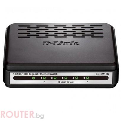 Мрежов суич D-Link GO-SW-5G 5-Port Gigabit