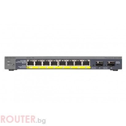 Мрежов суич NETGEAR GS110TP Gigabit Smart switch