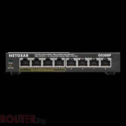 Мрежов суич NETGEAR GS308P 8 x 10/100/1000