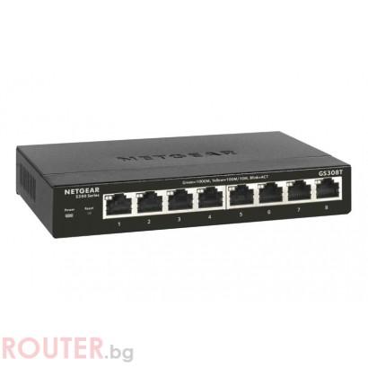 Мрежов суич NETGEAR GS308T
