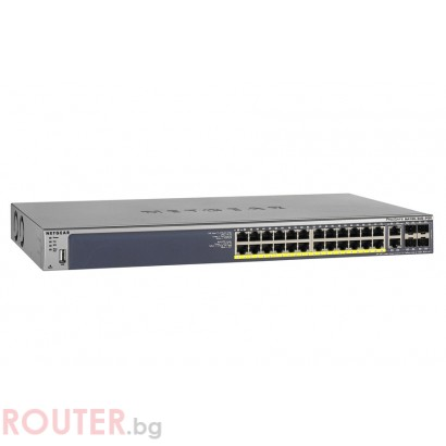 Мрежов суич NETGEAR M4100-26G-POE  Managed Gigabit switch with static routing