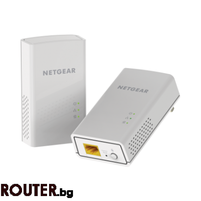 Адаптер NETGEAR PL1200 POWERLINE 1000, 1 Gigabit Port, 2 броя
