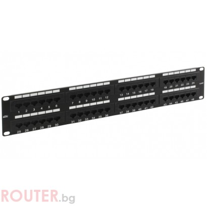 Patch panel CAT5e UTP 48 port, No brand