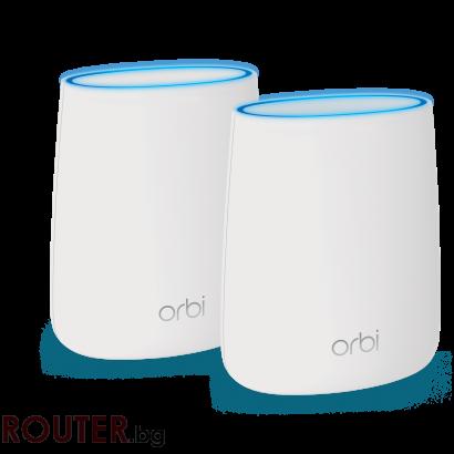 Рутер NETGEAR Orbi Router 4PT AC2200 (866 + 866 + 400 Mbps) Tri-band WiFi + Orbi Satellite