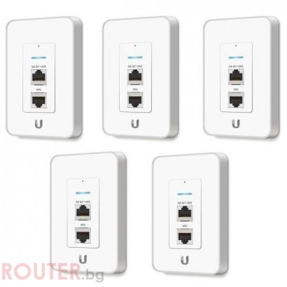 Мрежова точка за достъп UBIQUITI UAP-AC-IW комплект от 5