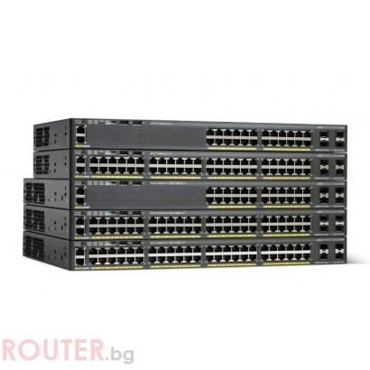 Мрежов суич CISCO Catalyst 2960-X 48 GigE PoE 740W