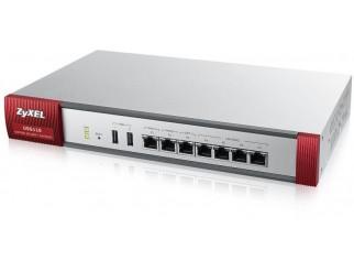 Защитна стена ZYXEL USG110 UTM BDL, 10/100/1000, 4x LAN/DMZ, 2x WAN, 1xOPT, с включени лицензи за 1 година (Антиспам, Антивирус, Филтър на съдържание, IDP)