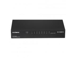 Суич EDIMAX GS-1008E V2, 8 портов, Gigabit