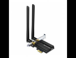 Безжичен адаптер TP-LINK Archer TX50E, AX3000 Wi-Fi 6, PCI-EX, Bluetooth 5.0, две външни антени