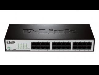 Суич D-Link DES-1024D/E, 24 портов 10/100, Desktop, rack mount