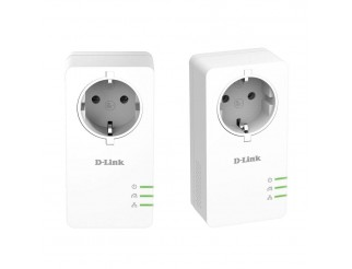 D-Link PowerLine AV2 1000 HD Gigabit Passthrough Kit, 1000 Mbps, 2 бр. в пакет