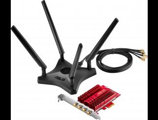 Адаптер ASUS PCE-AC88, AC3100 Dual Band PCIe Wi-Fi