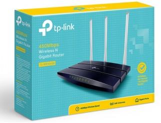 Безжичен рутер TP-Link TL-WR1043N, 450Mbps, Гигабитова мрежа, 5dB сменяеми антени